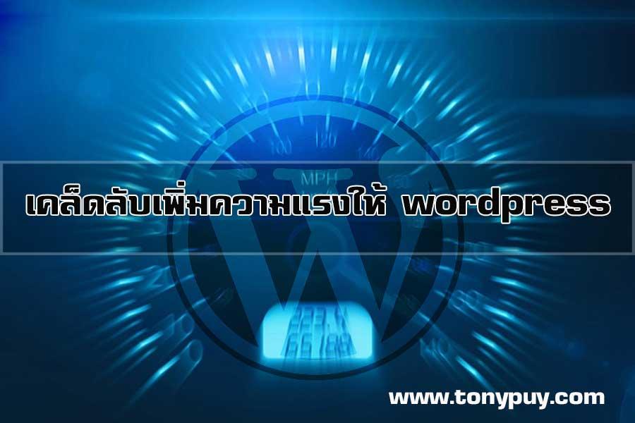 เคล็ดลับเพิ่มความแรงให้ wordpress